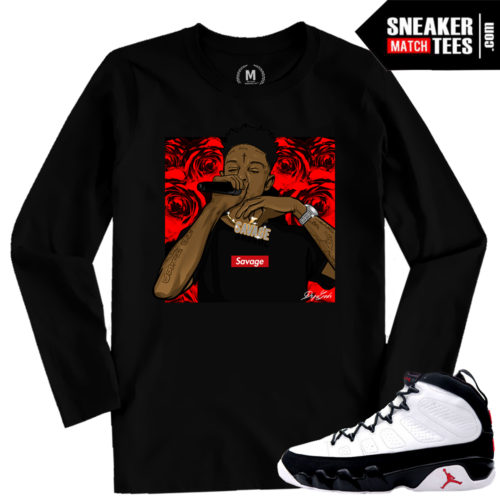 Jordan 9 OG Space Jam T shirt Match