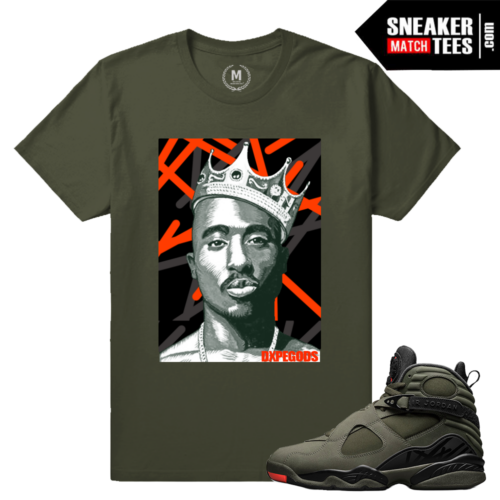 Match Jordan 8 Flight Sneaker Tees