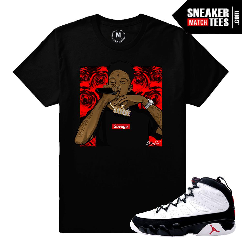 Og 9 Jordan T Shirt Match Sneaker Match Tees Space Jam 9