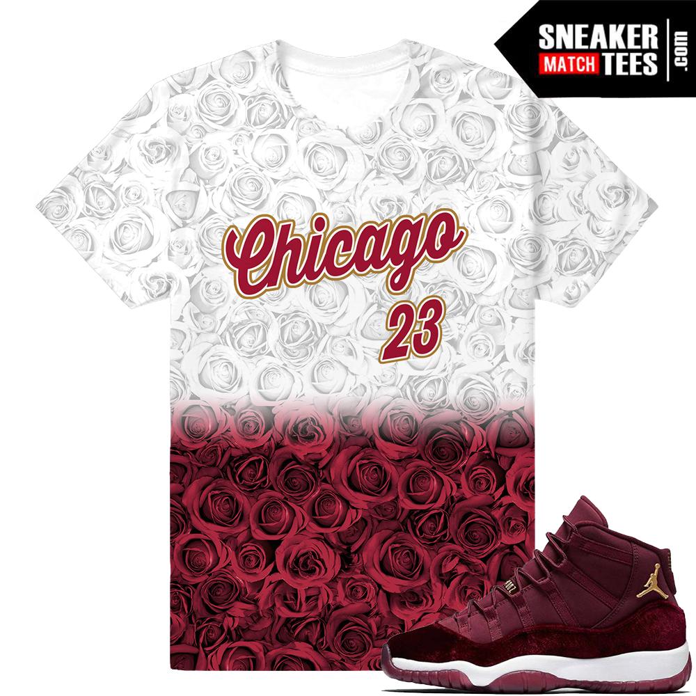 1b8290594bde Shirt Match Velvet 11 Maroon Jordans