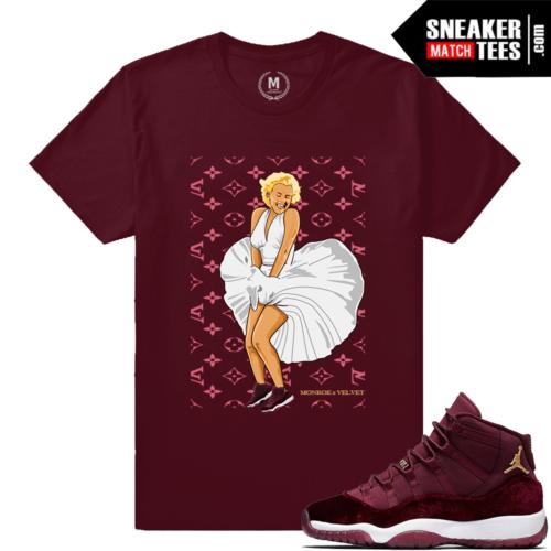 Shirt Match Velvet 11s