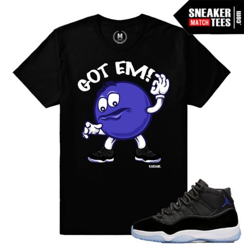 Shirt Matching Space Jam 11 Retro Jordans