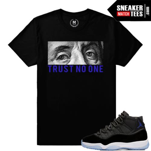 Space Jam 11 Retro Jordans Match Shirt