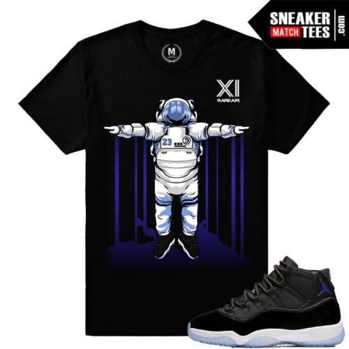 Space Jam 11 T shirt Matching Jordan Retro 11