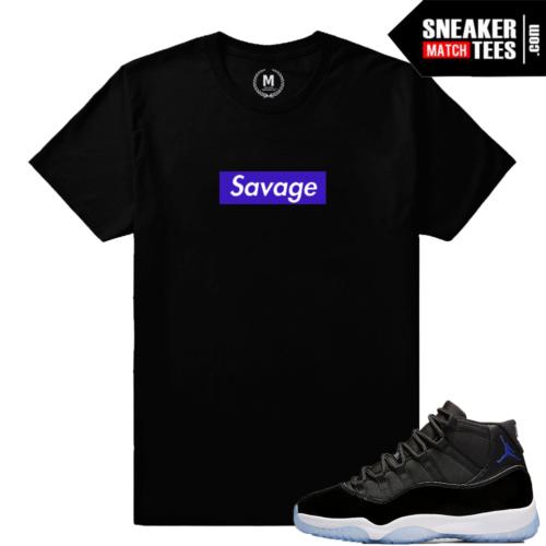 Space Jam 11s Savage T shirt