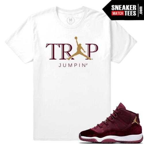 T shirt Jordan 11 Velvet Maroon Match