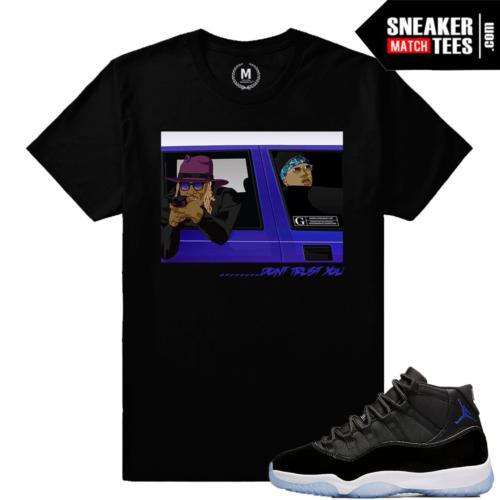 T shirt Matching Space Jam Jordan Retro 11