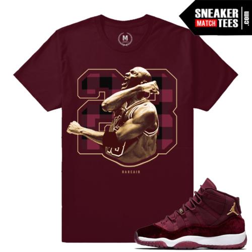 Velvet Maroon 11 Jordan T shirts