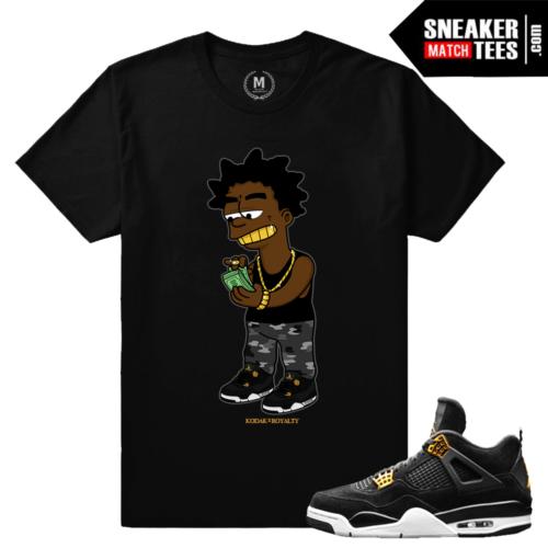 Air Jordan 4 Royalty Matching tee shirts