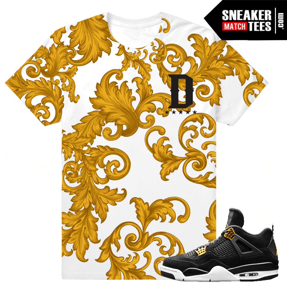 37528f36ae93 Jordan 4 Royalty Tee Shirt Match Retro 4