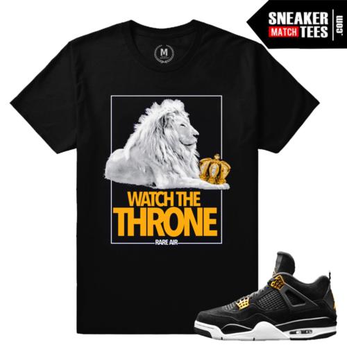 Jordan 4 T shirts Match Royalty 4s