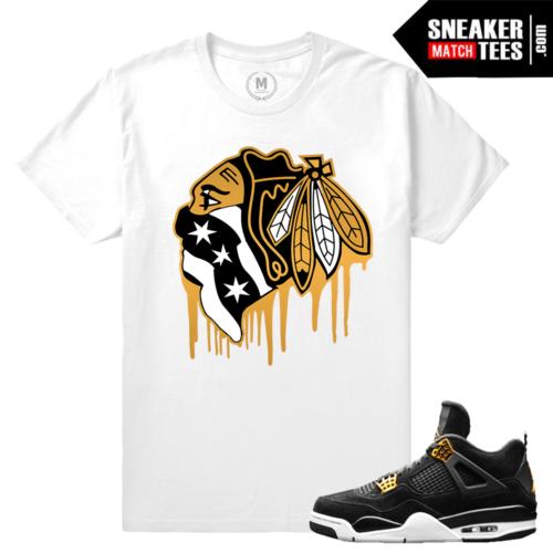 Jordan T shirt Match Royalty 4s