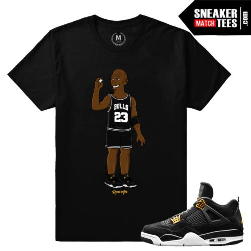 Sneaker Match Shirt Royalty 4s