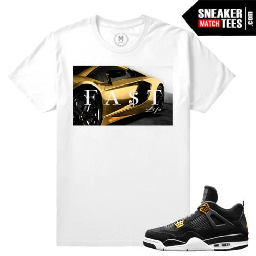 T shirt Match Jordan sneaker royalty 4s