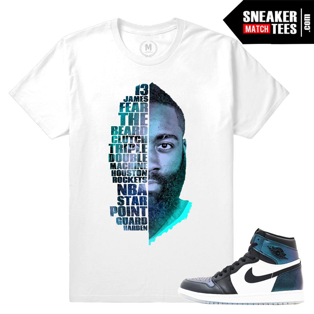 Air Jordan 1 All Star Chameleon Shirt Match Sneaker