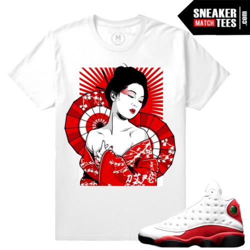 Air Jordan 13 Chicago t shirt Match Sneakers