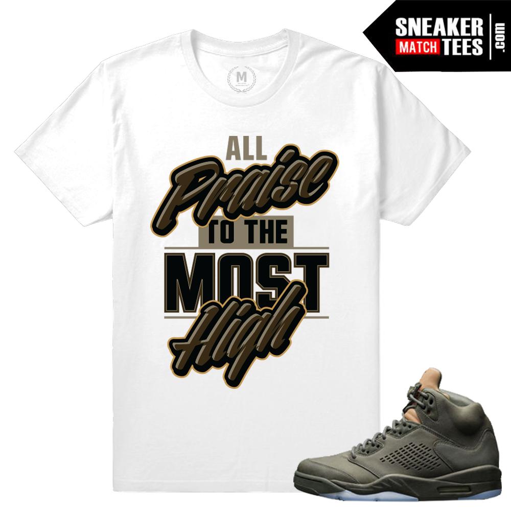 T shirt design jordan - Air Jordan 5 Take Flight Match T Shirt