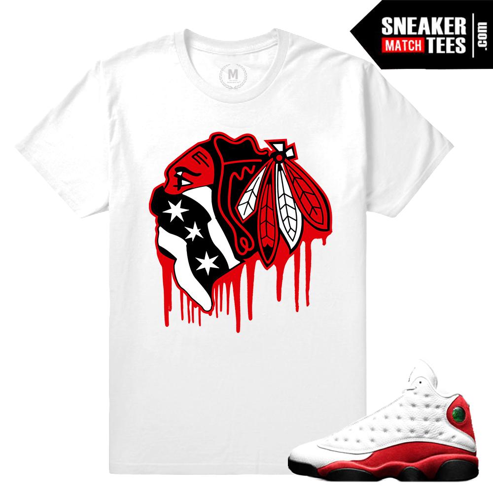 Chicago 13s Match Tee Shirt Air Jordan Jordan 13 Og Chicago