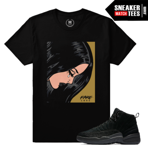 Jordan 12 OVO Black Sneaker Match T shirt