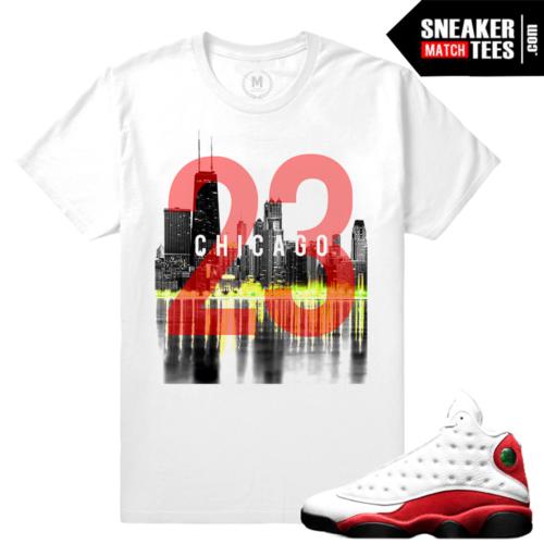 Match Air Jordan 13 Chicago Retro T shirt