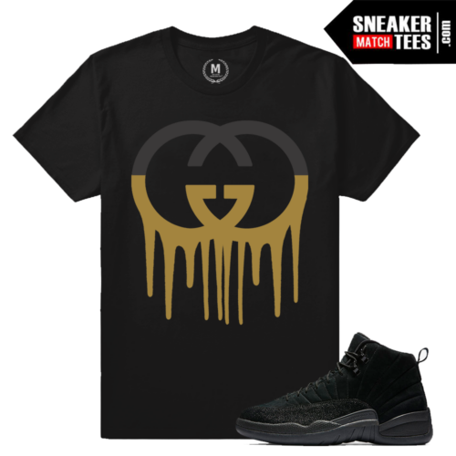 Match Air Jordan OVO 12 Black T shirts