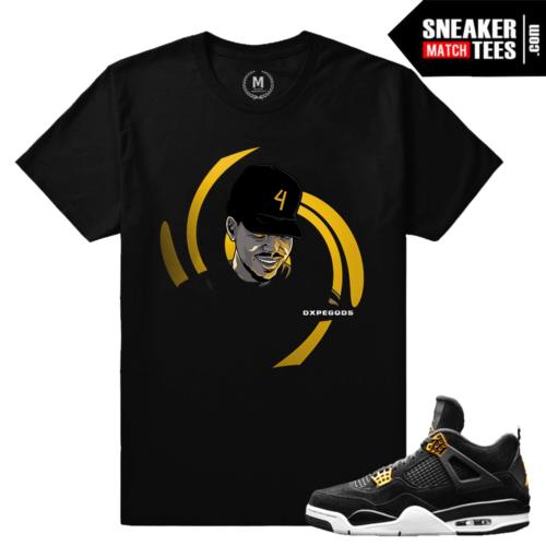 Royalty 4s matching t shirt Jordans