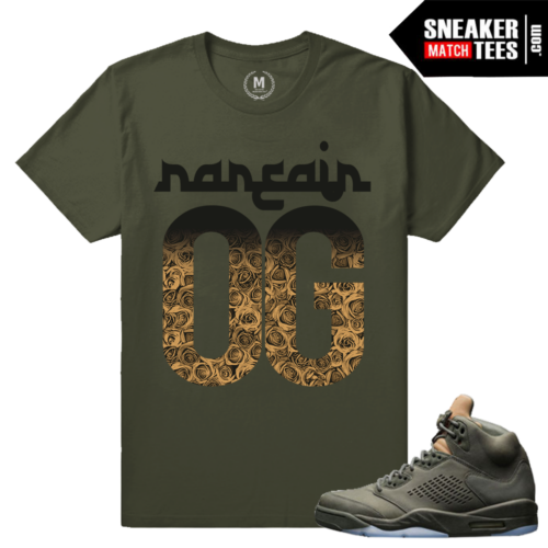 Sneaker tees Matching Air Jordan 5 Take Flight