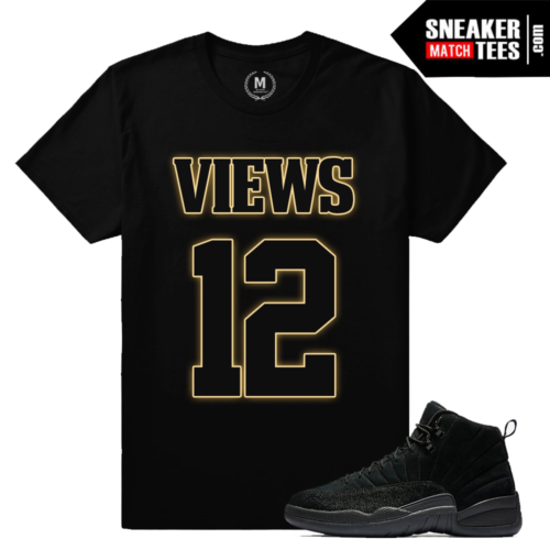T shirts Matching OVO 12s Black