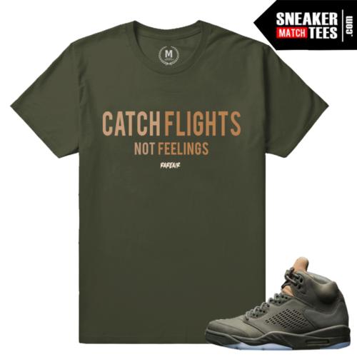 Take Flight 5s T shirts Match