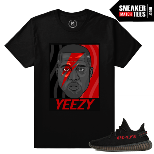 Yeezy Boost 350 black Red Tee Shirt
