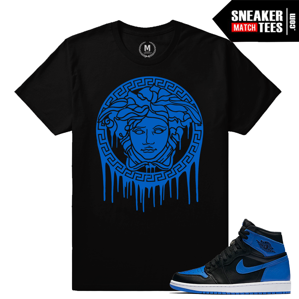 Air jordan 1 royal og retros sneaker match tees royal 1s for Jordan royal 1 shirt