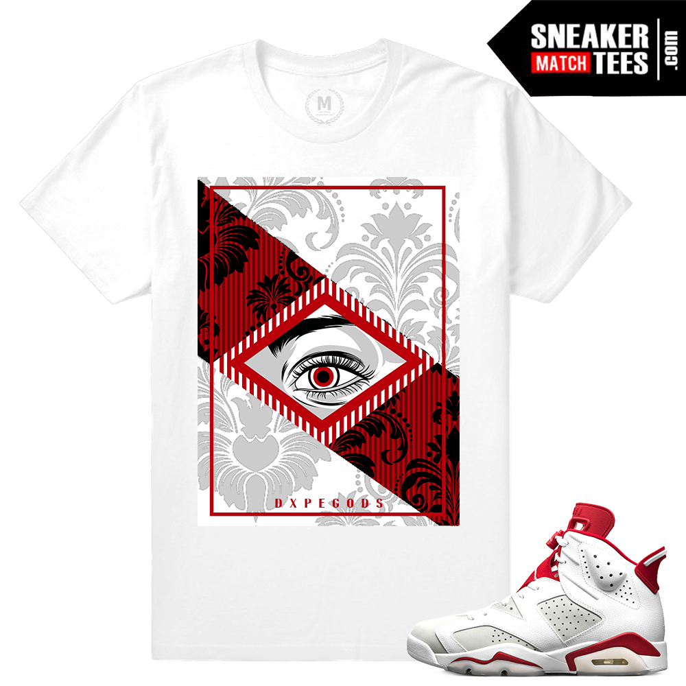 339deeb5d4b5 Match Jordan 8 Alternate Rare Air VIII White T-shirt