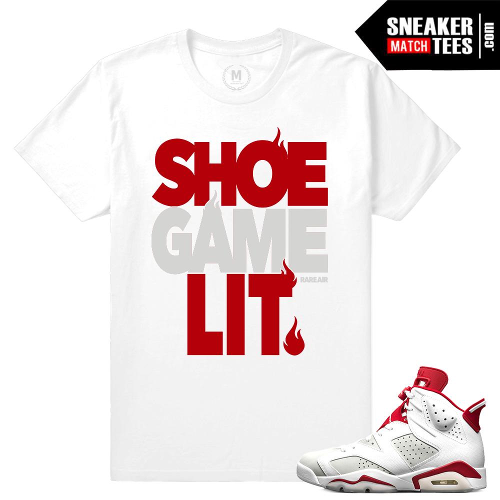 55e9bf3fc37 Match Air jordan 6 Alternate T shirts   Sneaker Match Tees Alternate 6s