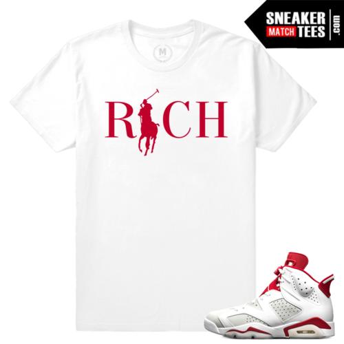 Match Jordan 6 Alternate shirt