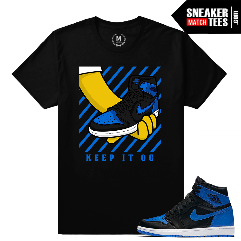 Sneaker Match Tees Air Jordan 1 Royal