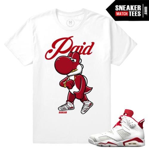 Sneaker tee Jordan 6 Alternate White Red