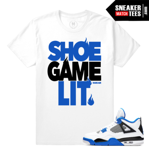 Sneaker tees Match Air Jordan 4 Motorsport sneakers