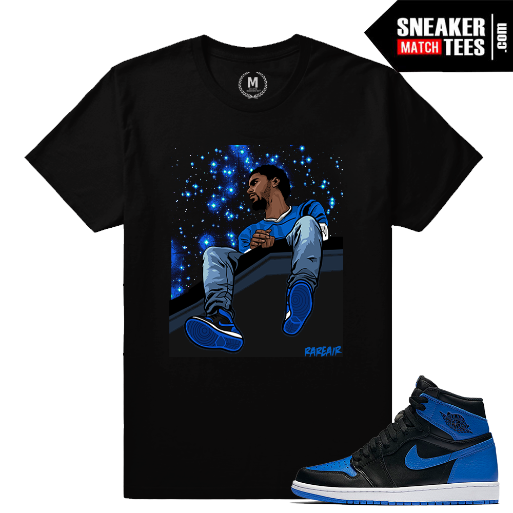 Air jordan 1 og royal sneaker match tees royal 1s for Jordan royal 1 shirt