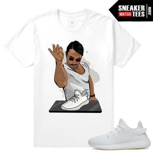 All White Yeezys Match T shirt
