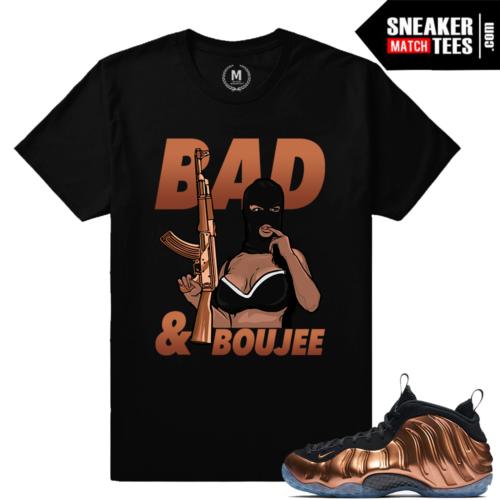 Copper Foamposite Nike t shirt match