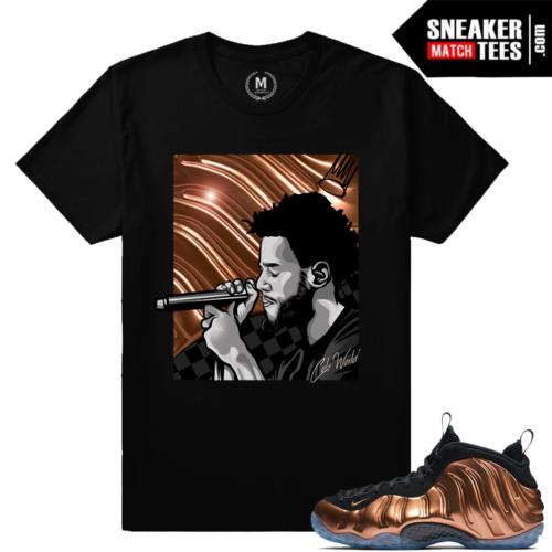 Copper Foamposite Sneaker tee Shirt Match