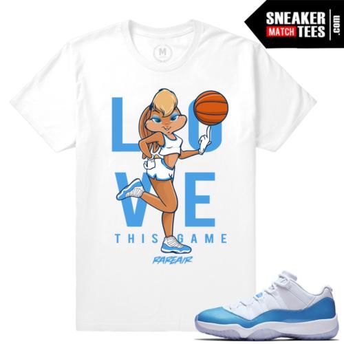 Jordan 11 UNC lows Matching tee shirt