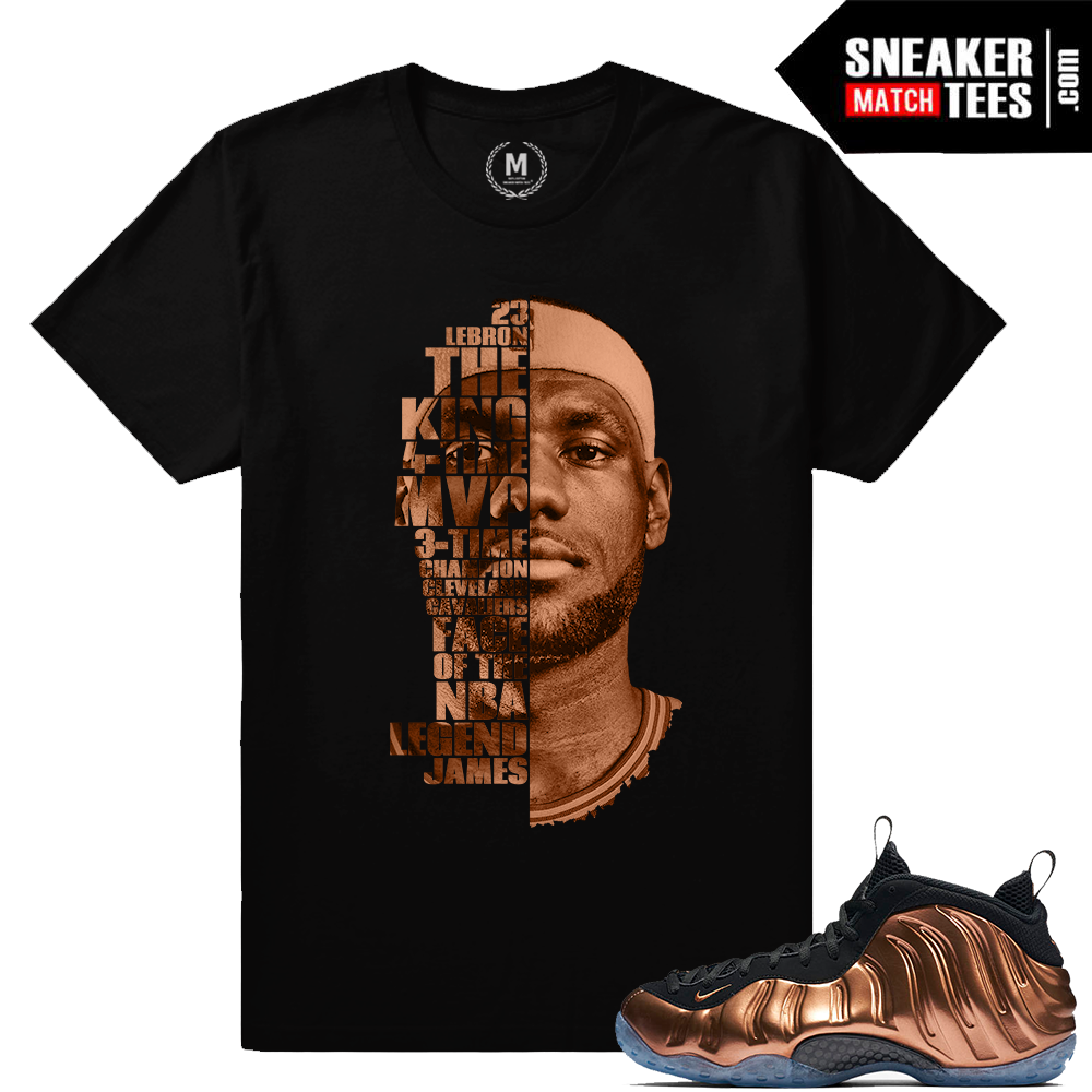 Lebron James T Shirt Match Nike Copper Foams | Sneaker Match Tees