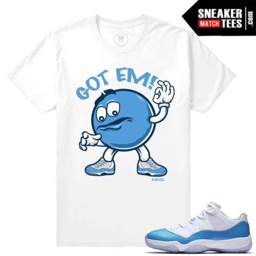 Match Air Jordan 11 UNC lows Sneaker tees
