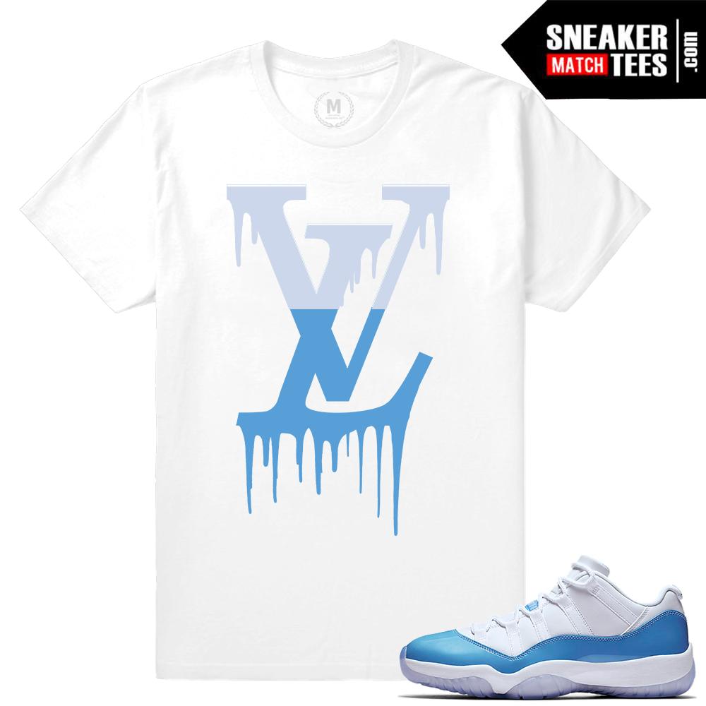 Match Air Jordan 11 UNC t shirt   Sneaker Match Tees UNC 11s