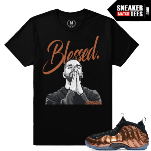 Nike Foamposite Copper t shirts