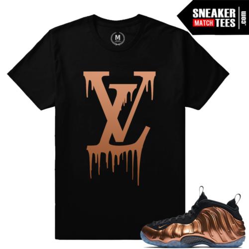 Shirts match Nike Foamposite Copper foams