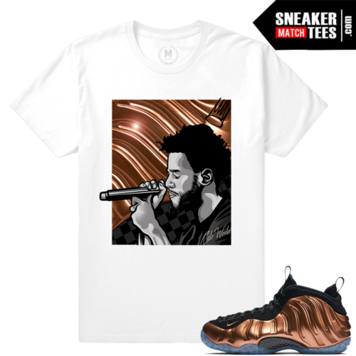 T shirts copper foams Matching