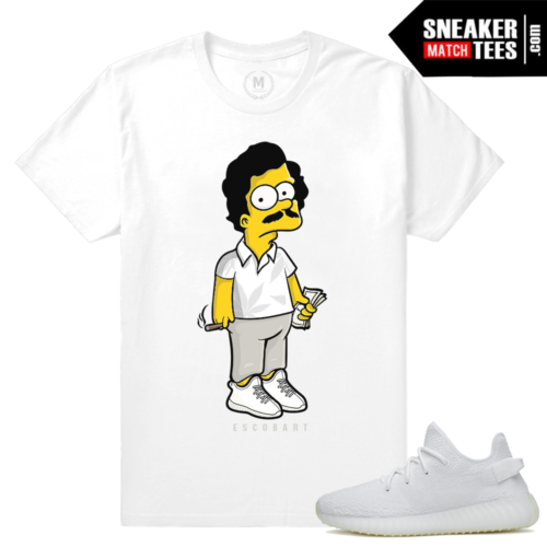 Yeezy Boost 350 White Matching t shirts