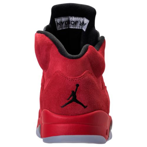 Jordan 5 Red Suede Back View